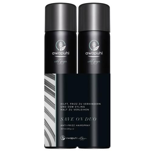 Paul Mitchell Awapuhi Wild Ginger Anti-Frizz Hairspray Duo - 2x 307ml