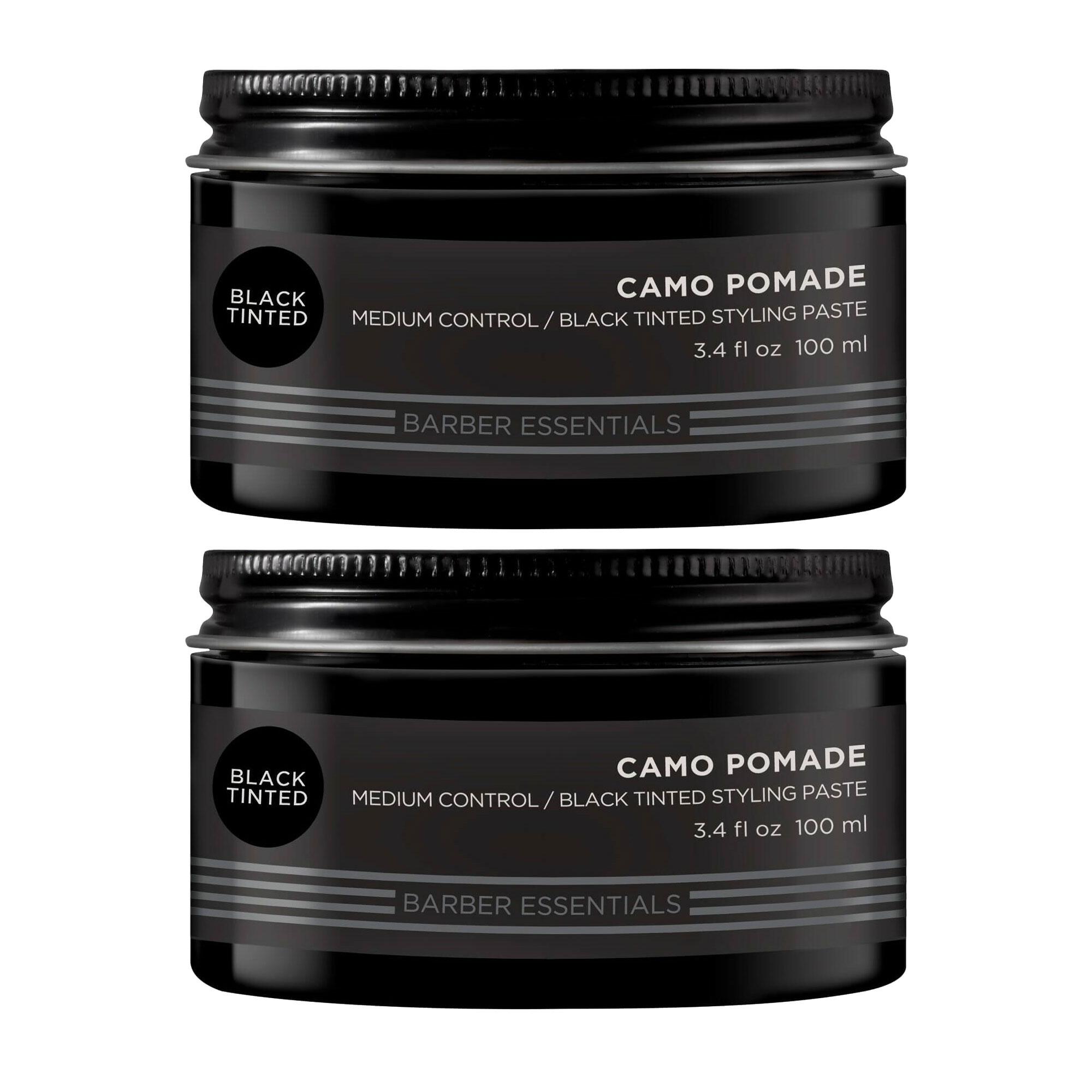 Redken Brews Camo Black Tinted Pomade 2x 100ml = 200ml