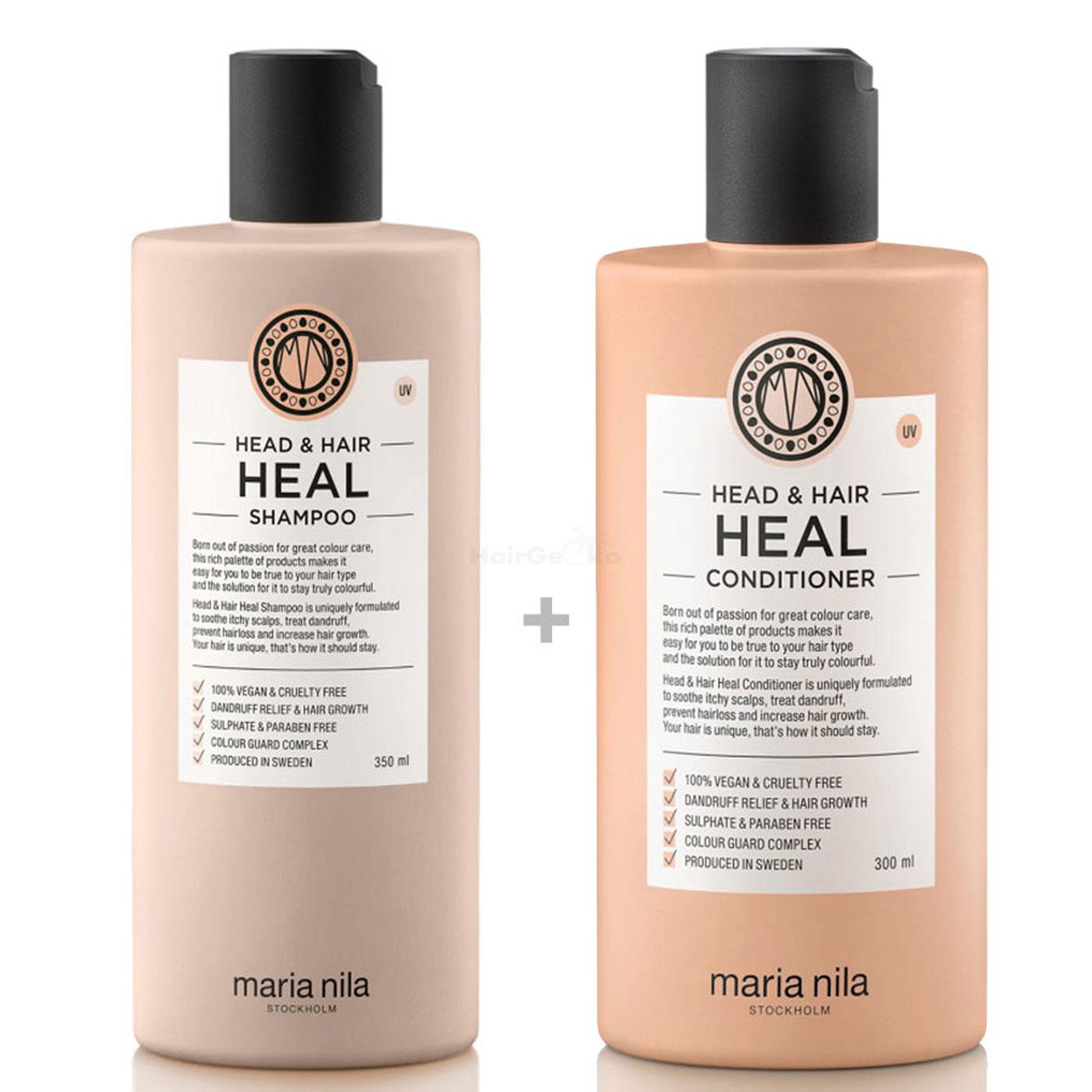 Maria Nila Head & Hair Heal Set - Shampoo 350 ml + Conditioner 300 ml
