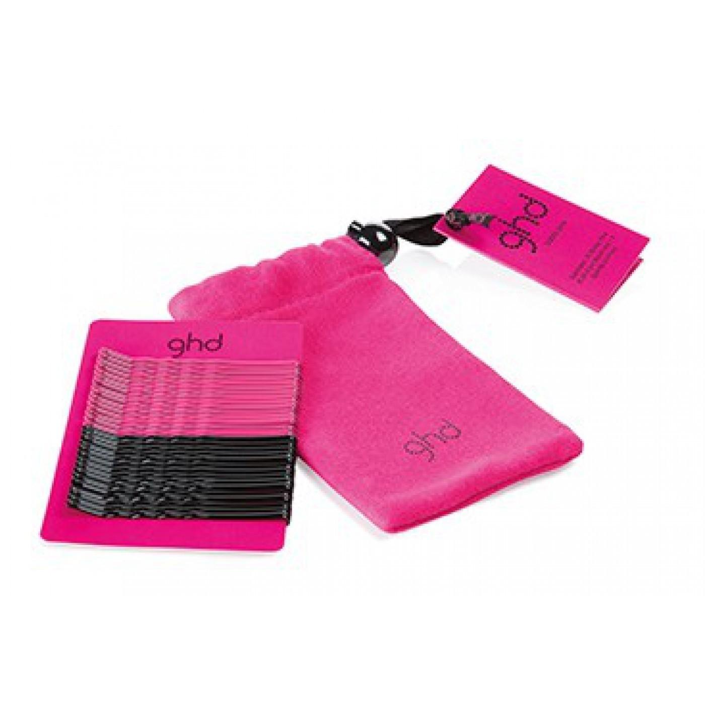 ghd Electric Pink Bobby Pin Bag (Inhalt 30 Stück)