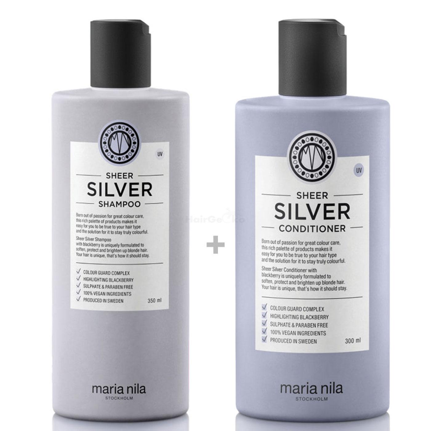 Maria Nila Sheer Silver Set - Shampoo 350 ml + Conditioner 300 ml