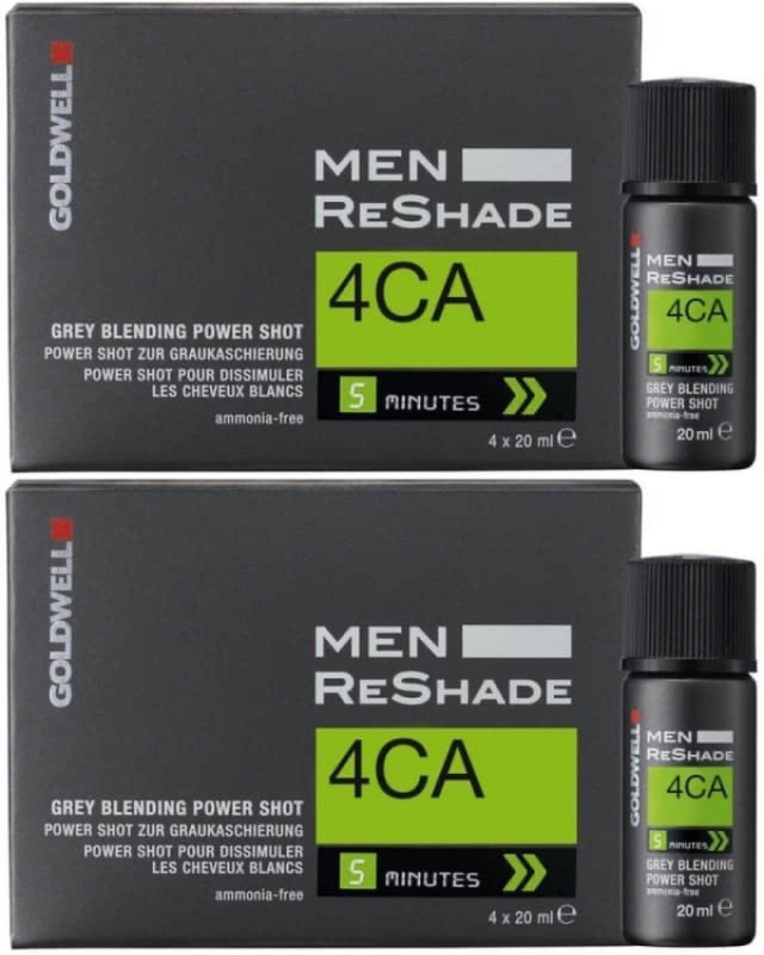 Goldwell Men Reshade Power Shot 8x 20 ml Shots (4CA mittel-aschbraun)