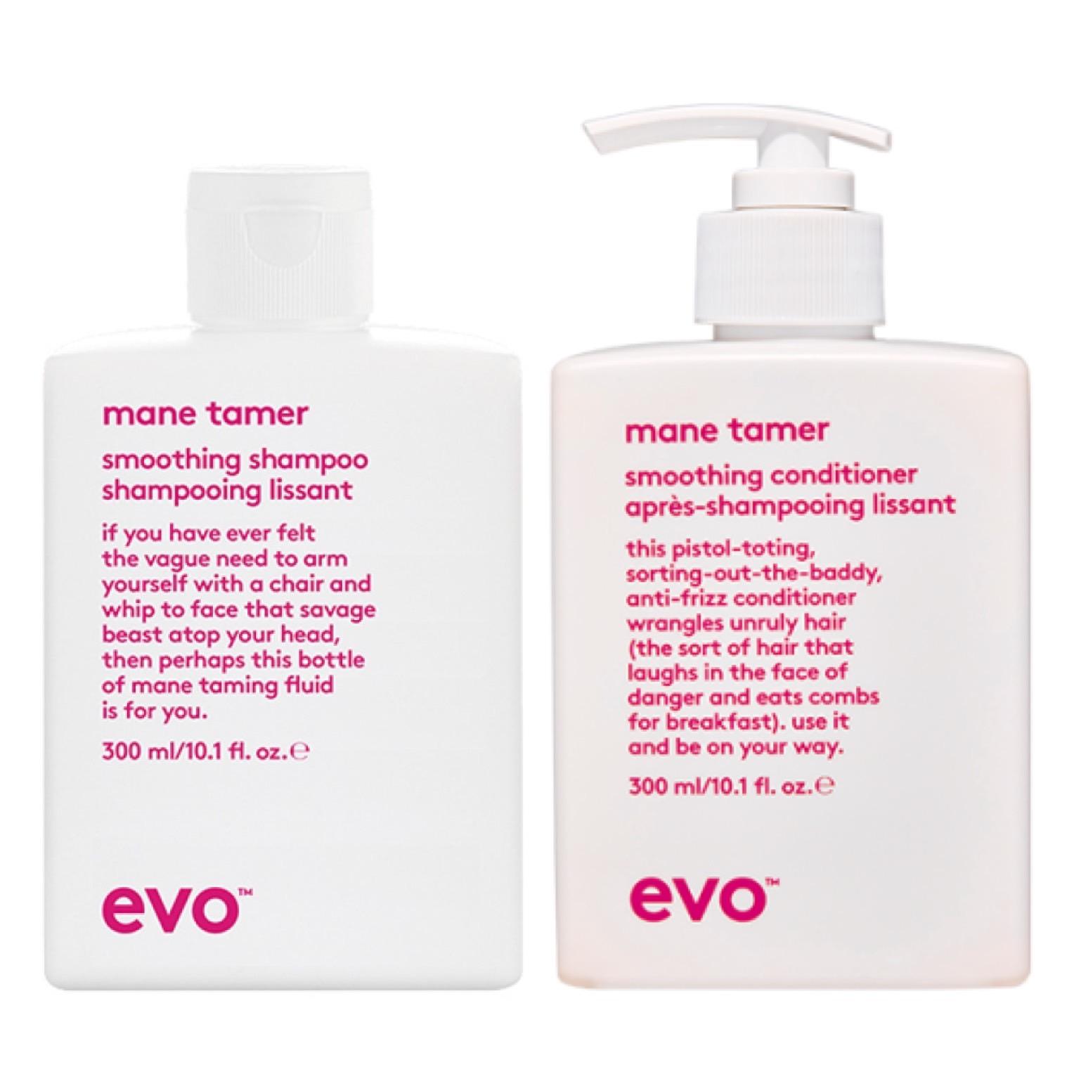 evo Mane Tamer Smoothing Shampoo 300 ml + Conditioner 300 ml