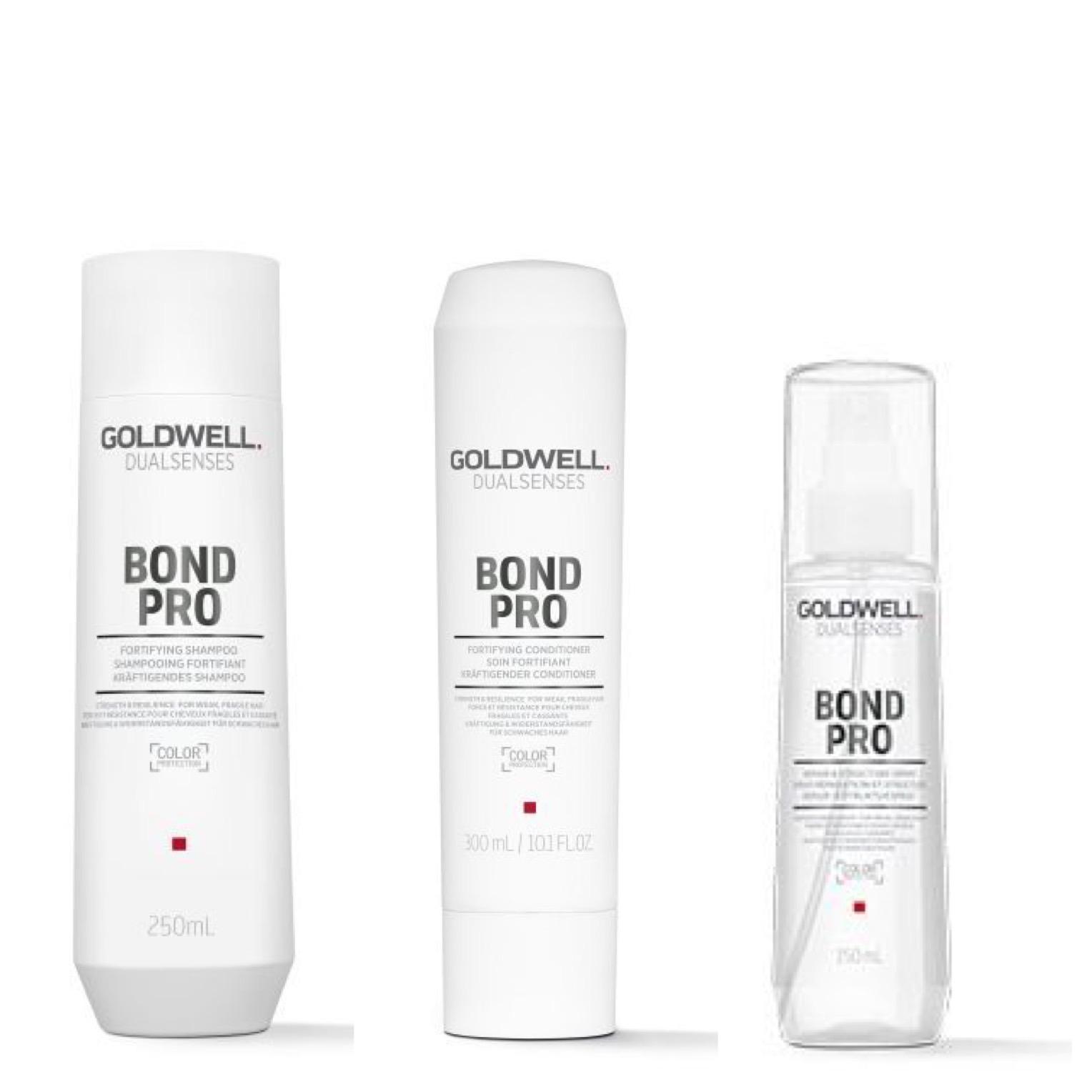 Goldwell Dualsenses Bond Pro Set - Shampoo 250ml + Conditioner 200ml + Repair & Structure Spray 150ml