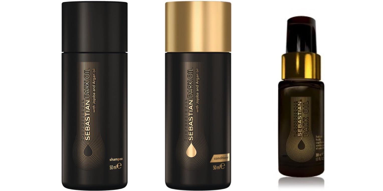 Sebastian Dark Oil Set - Shampoo 50ml + Conditioner 50ml + Hair oil 30ml