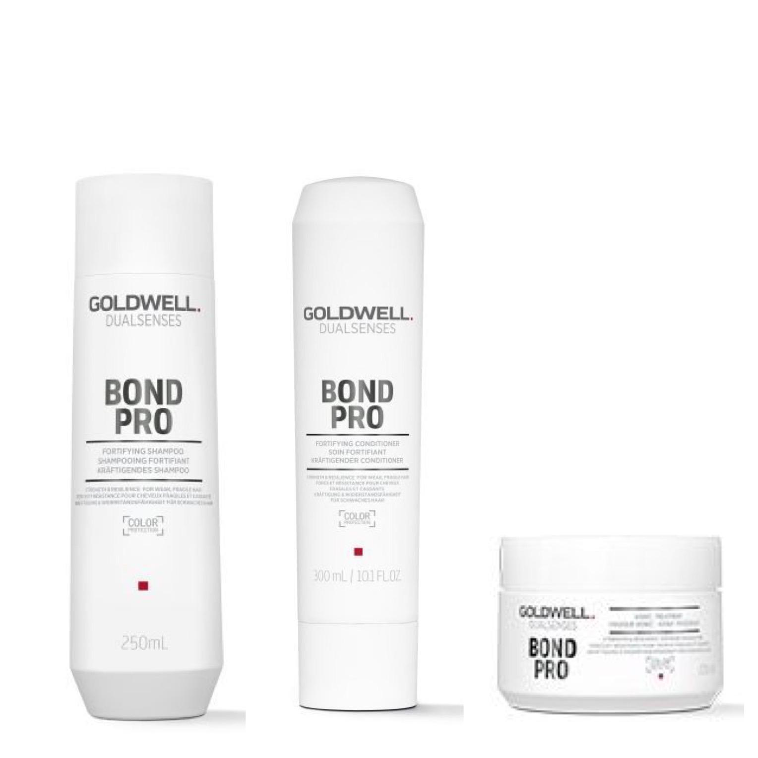 Goldwell Dualsenses Bond Pro Set - Shampoo 250ml + Conditioner 200ml + 60Sek Pflegekur 200ml