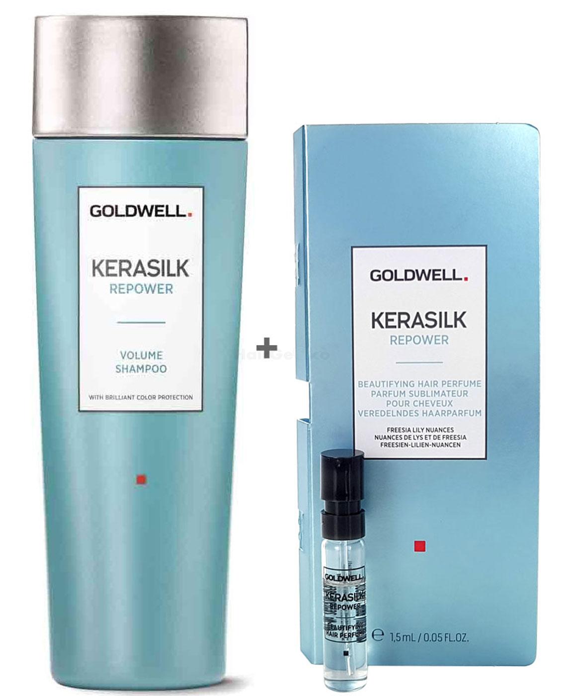 Goldwell Kerasilk Repower Set - Volume Shampoo 250ml + Haarparfum Probe 1,5ml