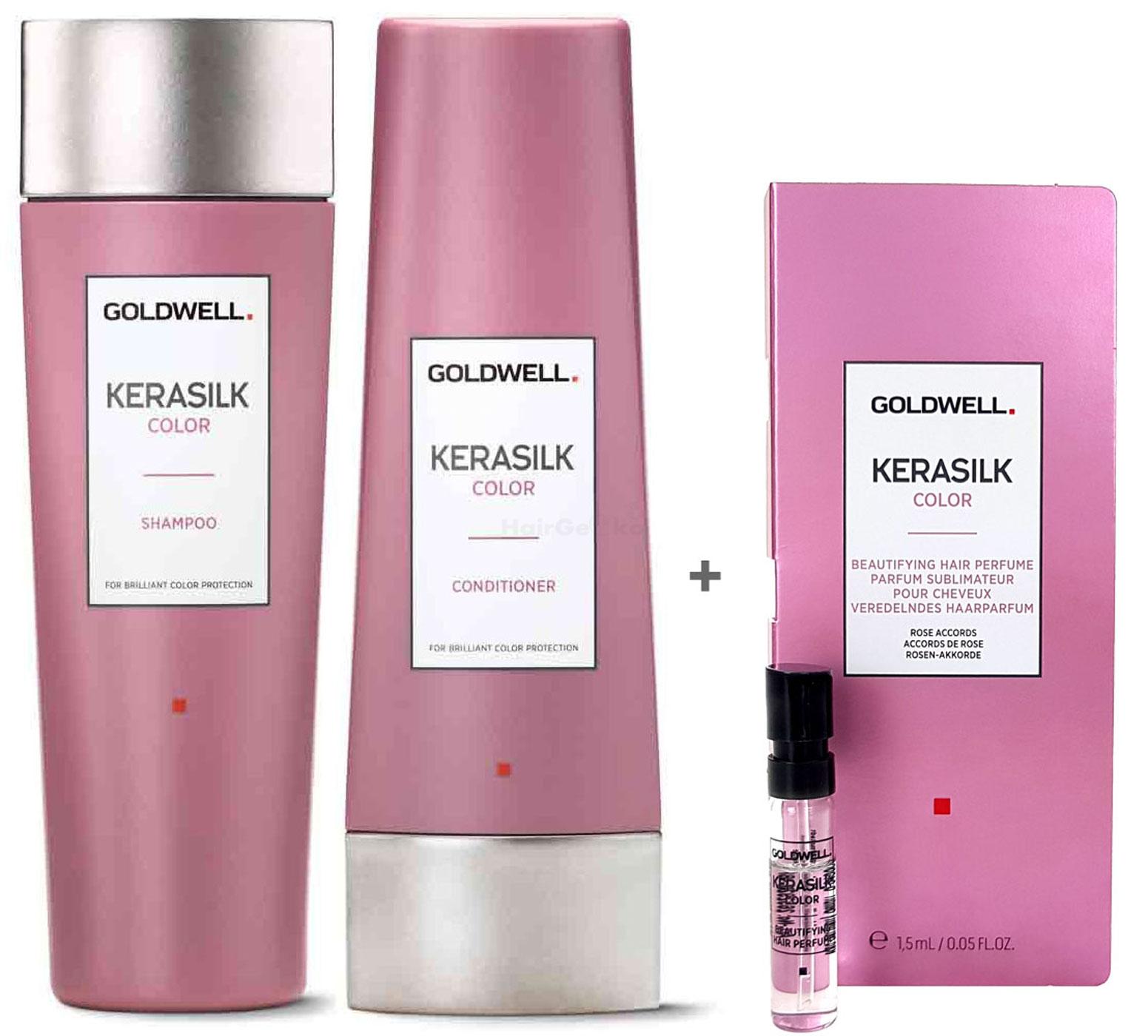 Goldwell Kerasilk Color Set - Shampoo 250ml + Conditioner 200ml + Haarparfum Probe 1,5ml