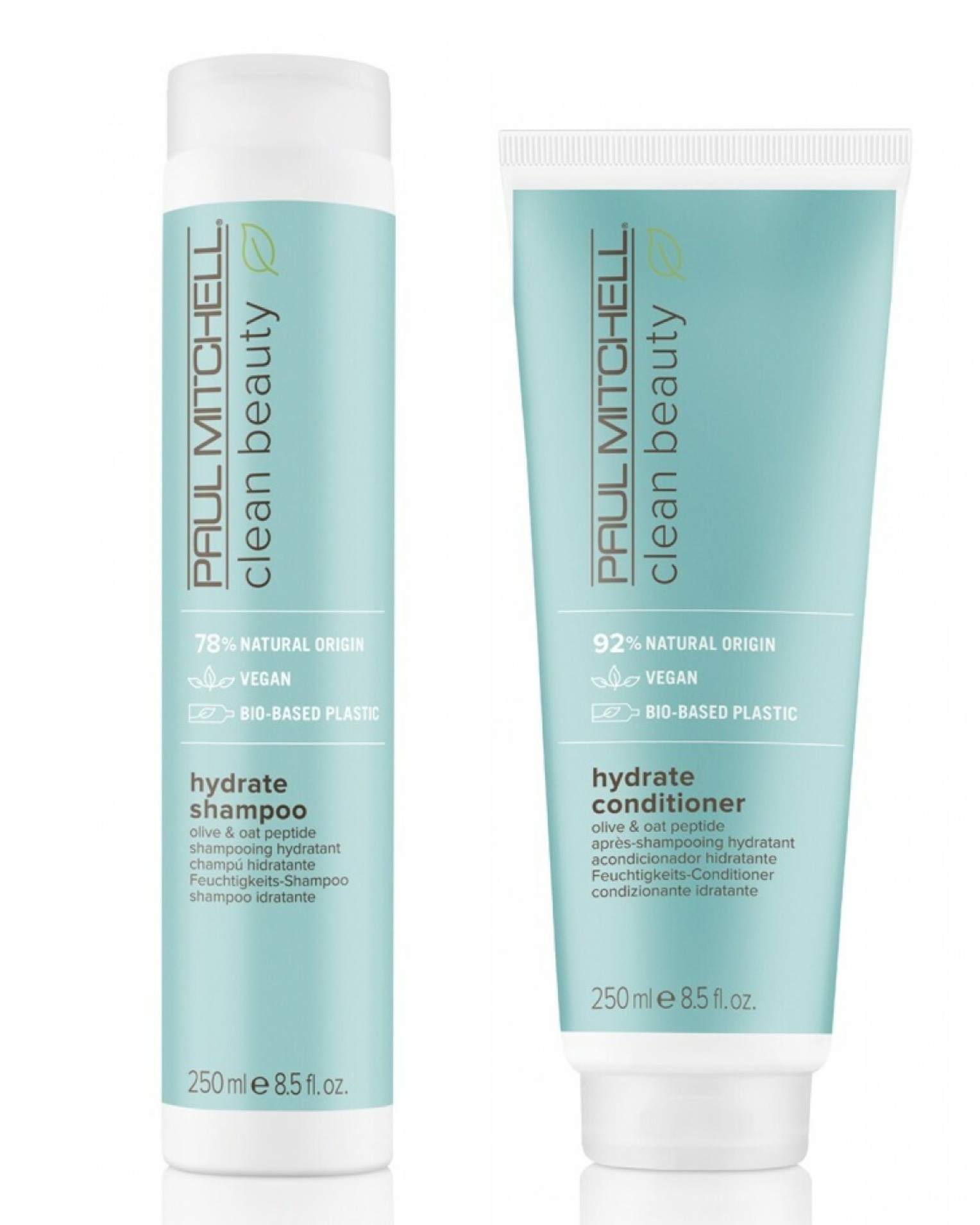 Paul Mitchell Clean Beauty Hydrate Duo - Hydrate Shampoo 250ml + Conditioner 250ml