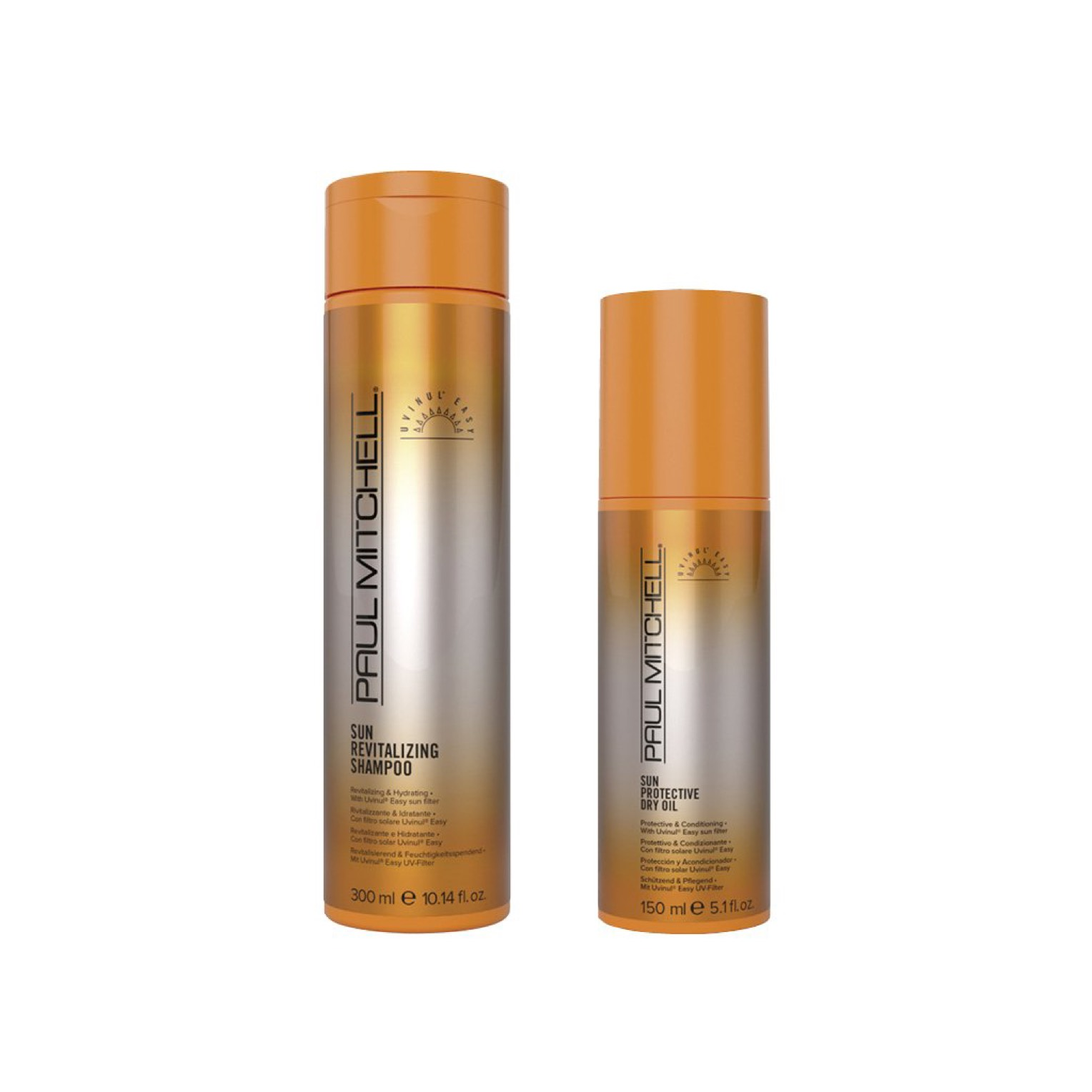 Paul Mitchell Sun Revitalizing Shampoo 250ml + Sun Protective Dry Oil 150ml