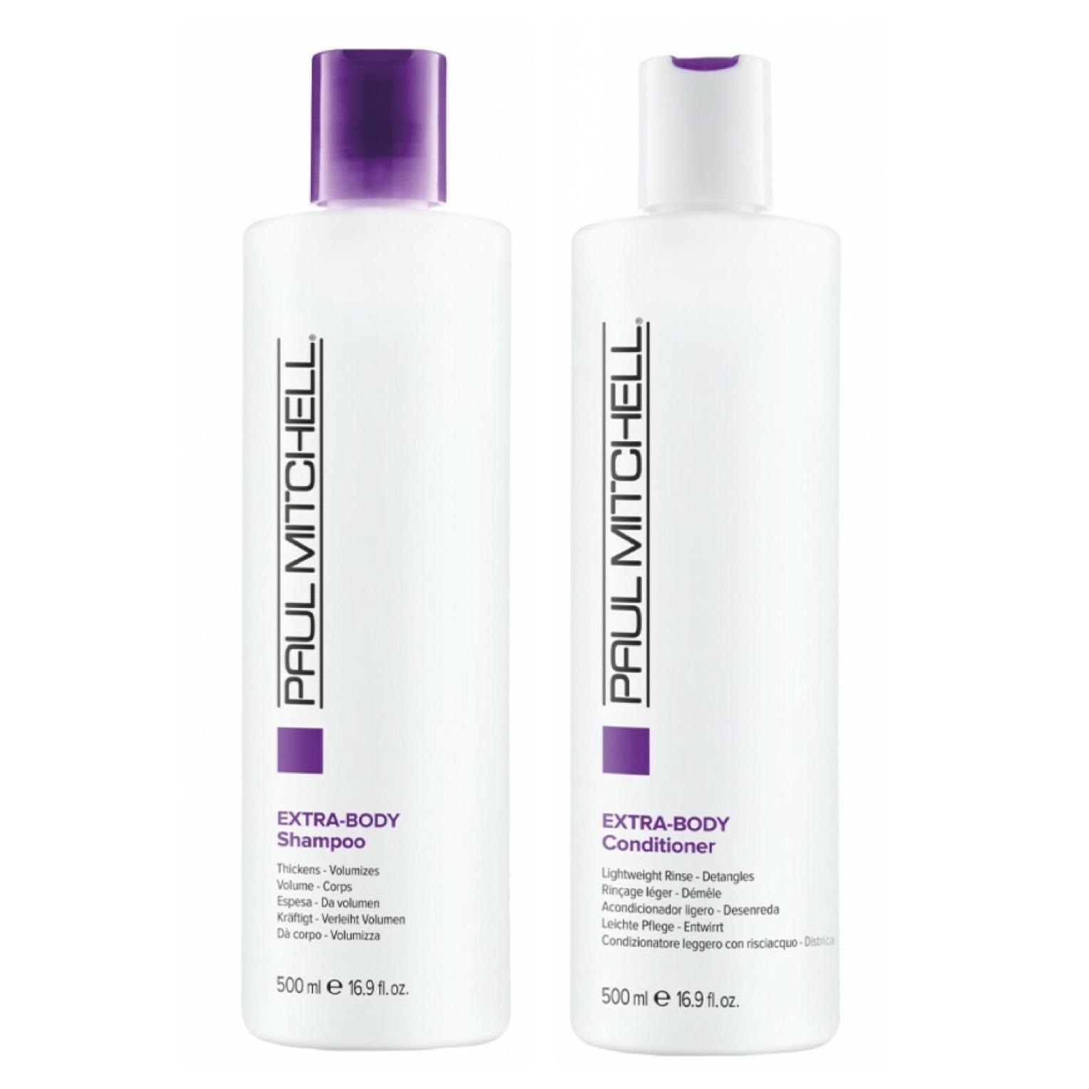 Paul Mitchell Extra-Body 500ml Set - Extra-Body Shampoo 500ml + Extra-Body Conditioner 500ml