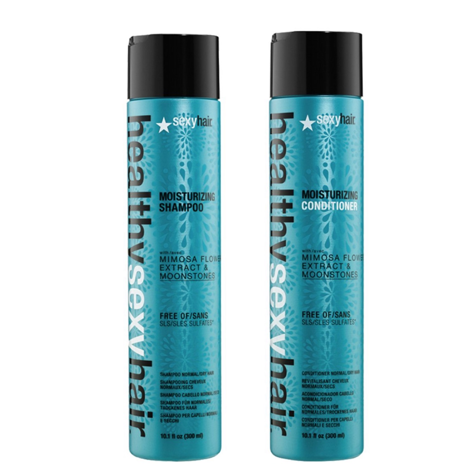 Healthy Sexy Hair Moisturizing Set - Moisturizing Shampoo 300ml + Moisturizing Conditioner 300ml