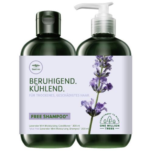 Paul Mitchell Tea Tree Lavender Mint Moisturizing Conditioner 300ml + Lavender Mint Moisturizing Shampoo 300ml