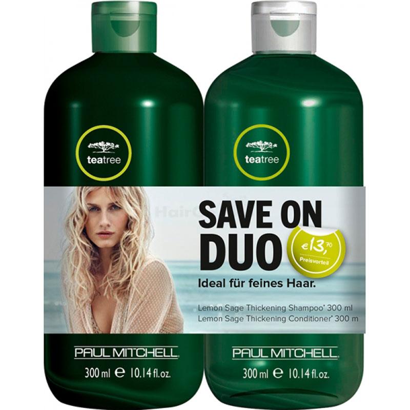 Paul Mitchell Tea Tree Lemon Sage Set - Shampoo 300ml + Conditioner 300ml