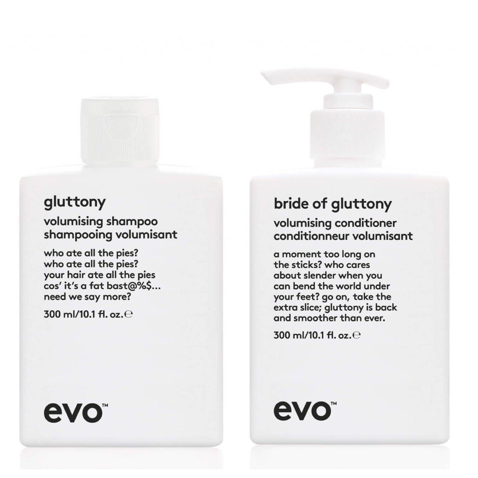 evo Hair Gluttony Volumising Shampoo 300ml + Conditioner 300ml