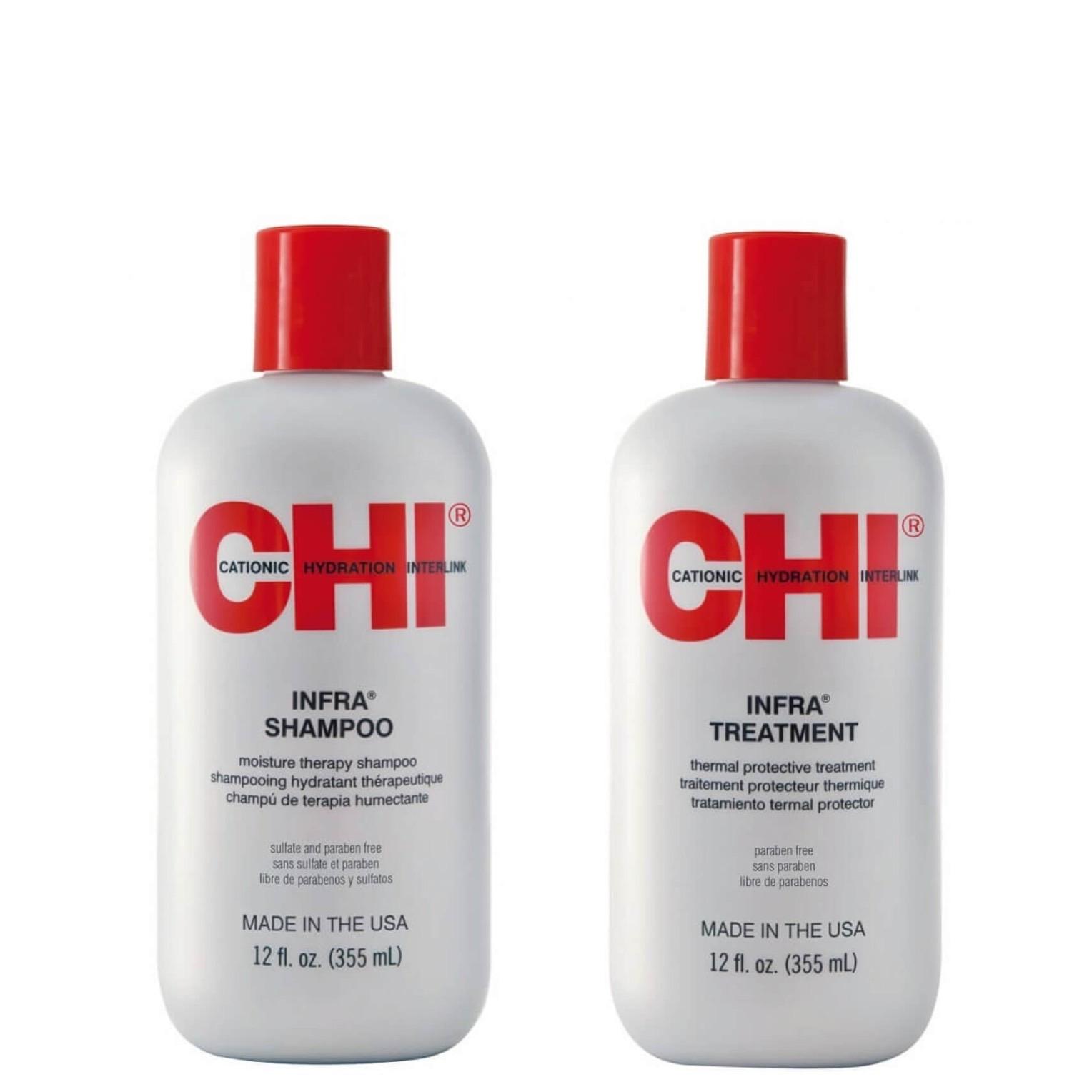 CHI Infra Set - Infra Shampoo 355ml + Infra Treatment 355ml