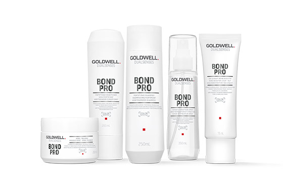 Goldwell Dualsenses Bond Pro Set Komplett - Shampoo 250ml + Conditioner 200ml + 60Sec Treatment 200ml + Repair & Structure Spray 150ml + Bond Booster 75ml