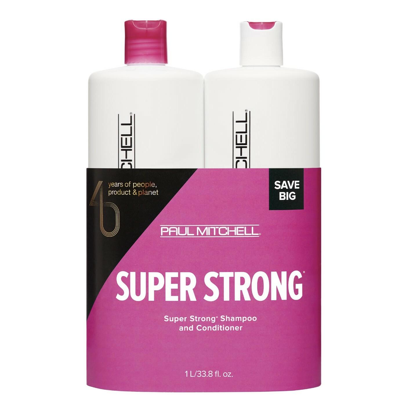 Paul Mitchell Super Strong Strength Set Shampoo 1000 ml + Conditioner 1000 ml