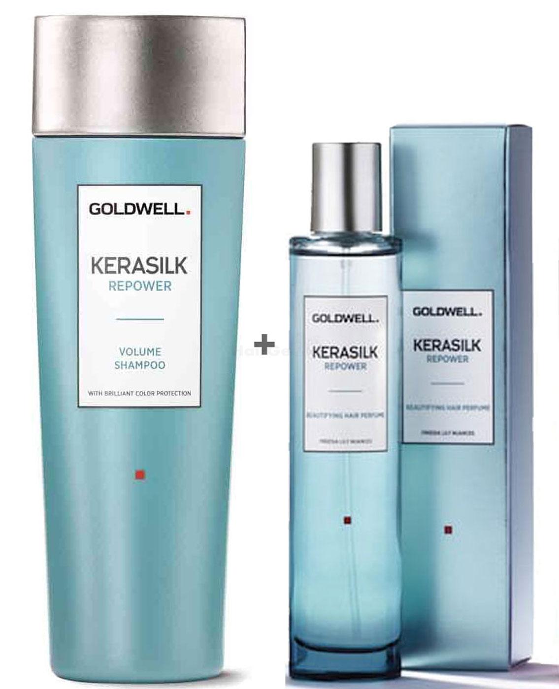 Goldwell Kerasilk Repower Set - Volume Shampoo 250ml + Haarparfum 50ml