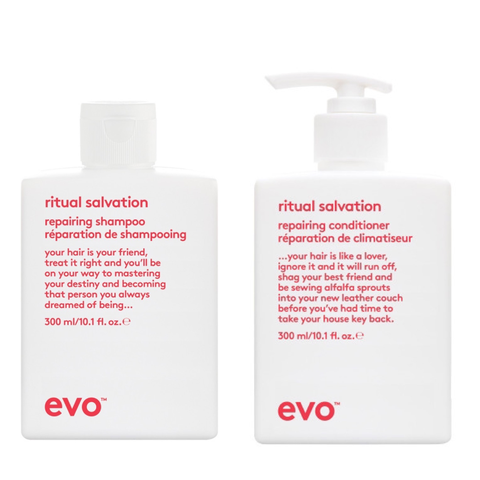 Evo Ritual Salvation Repairing Shampoo 300 ml + Conditioner 300 ml