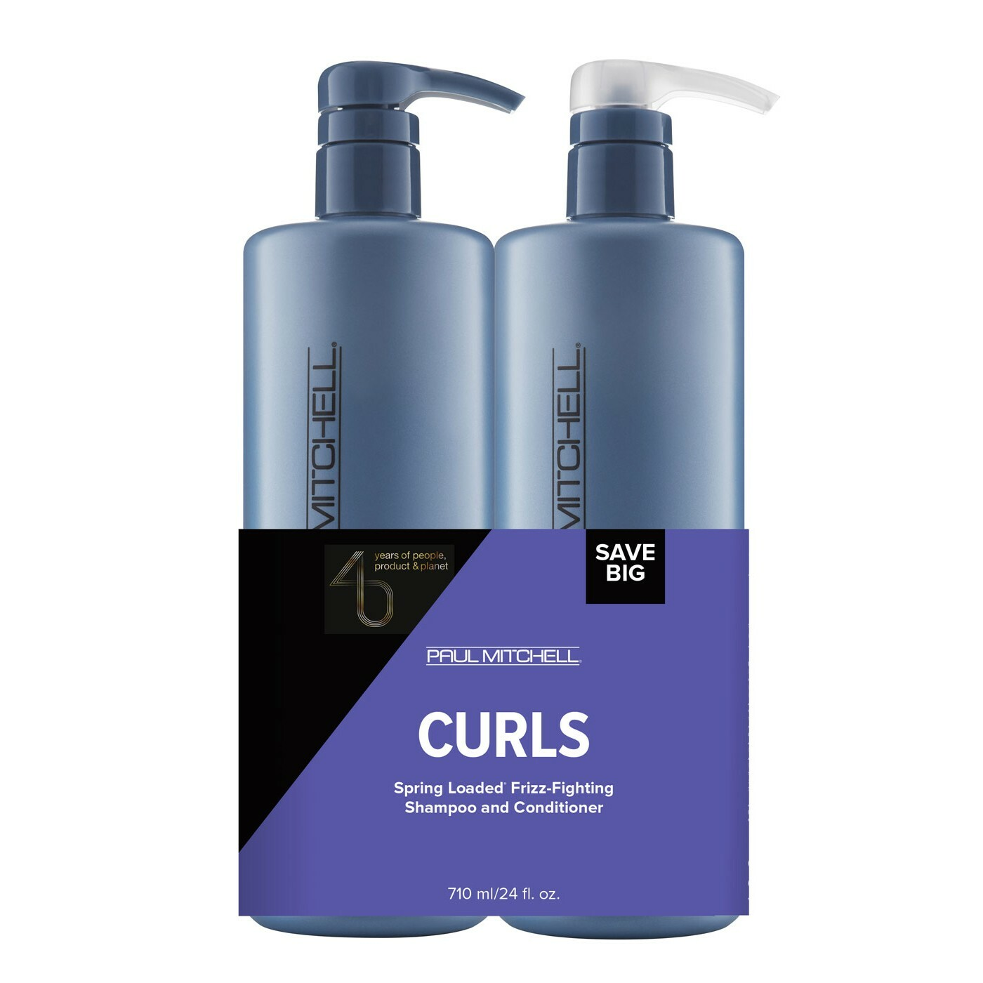 Paul Mitchell Save Big Curls - Spring Loaded Frizz-Fighting Shampoo 710ml + Spring Loaded Frizz-Fighting Conditioner 710ml