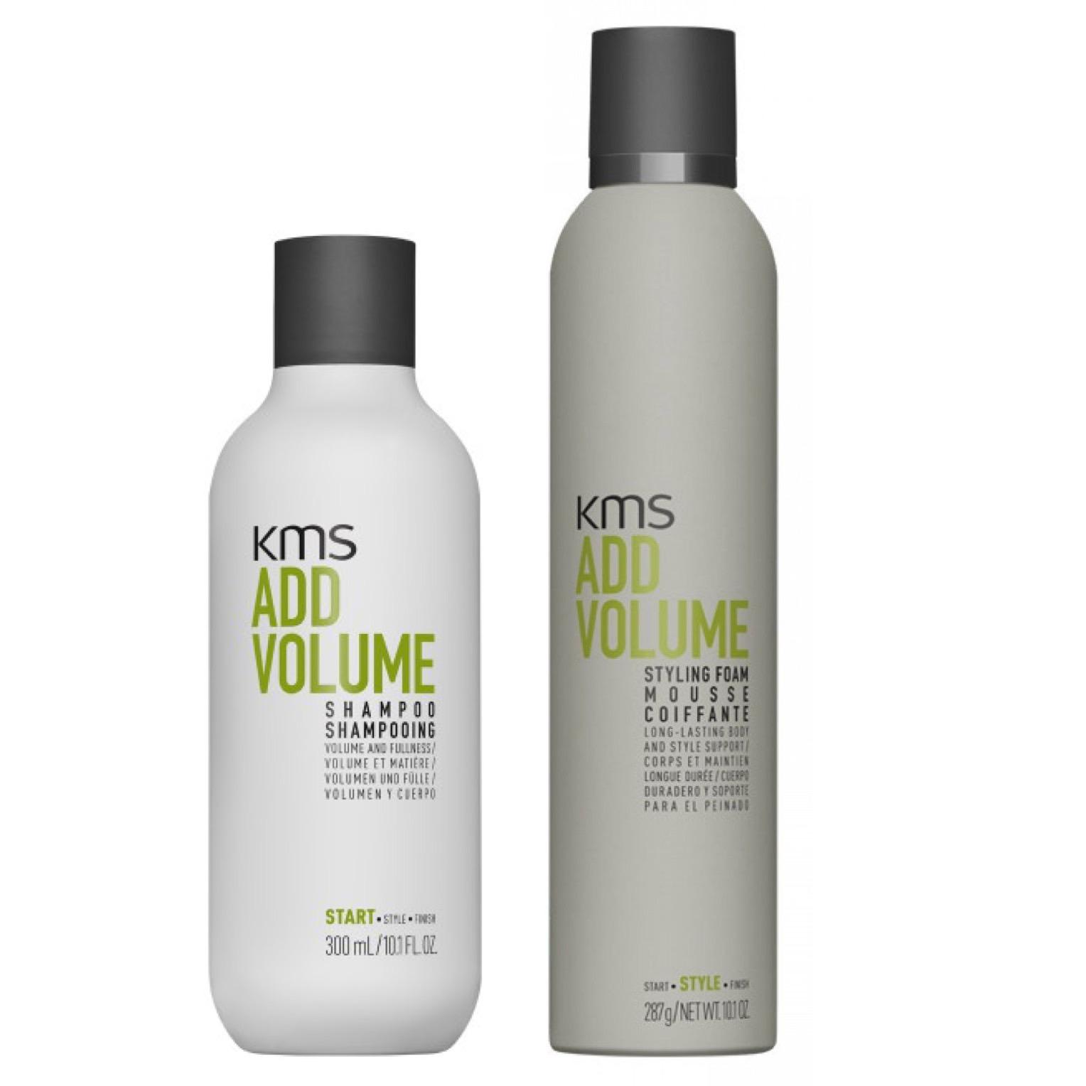 -KMS California Addvolume Set - Shampoo 300ml + Styling Foam 300ml
