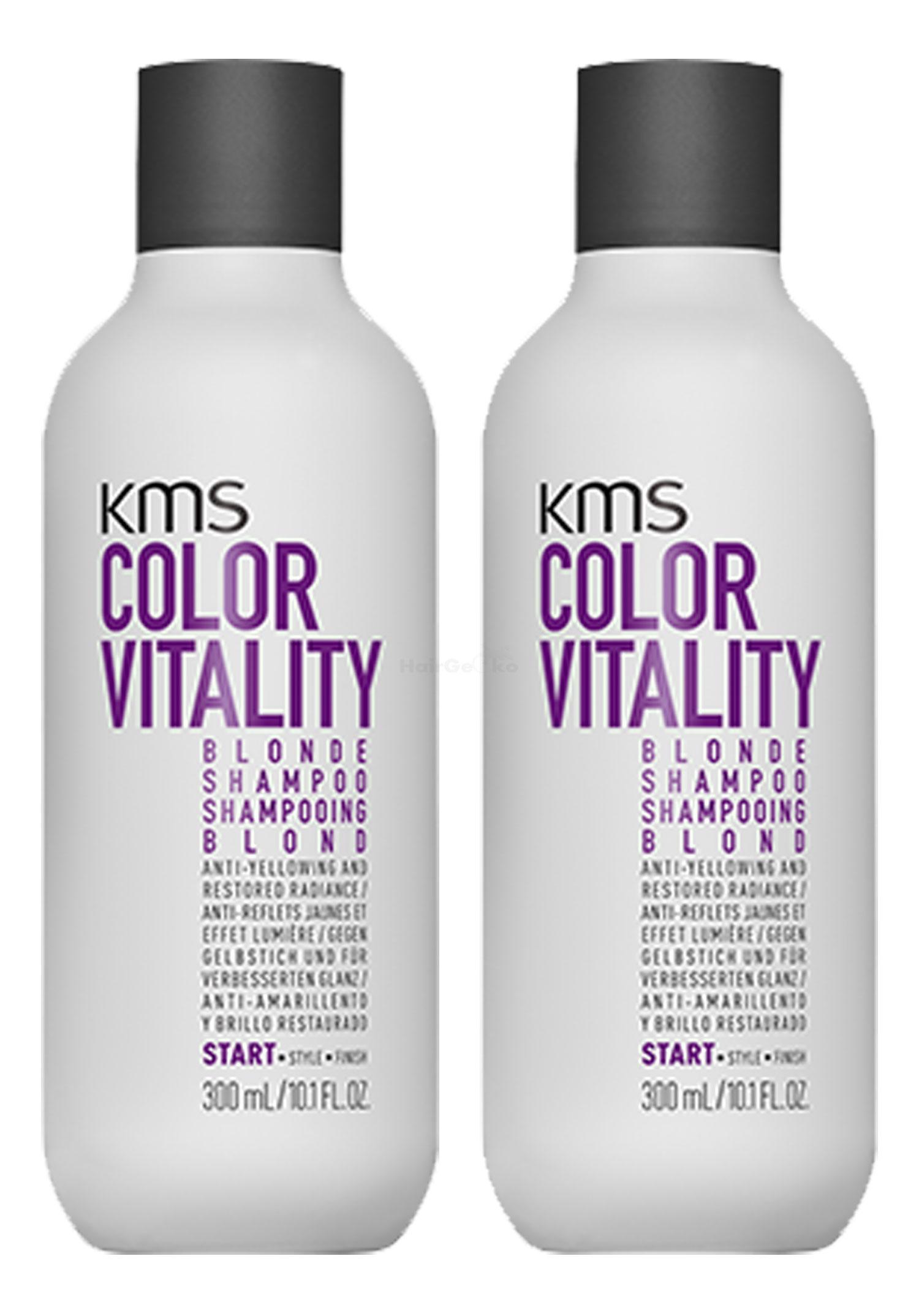 KMS California COLORVITALITY Blonde Shampoo 300ml x2 = 600ml - NEU