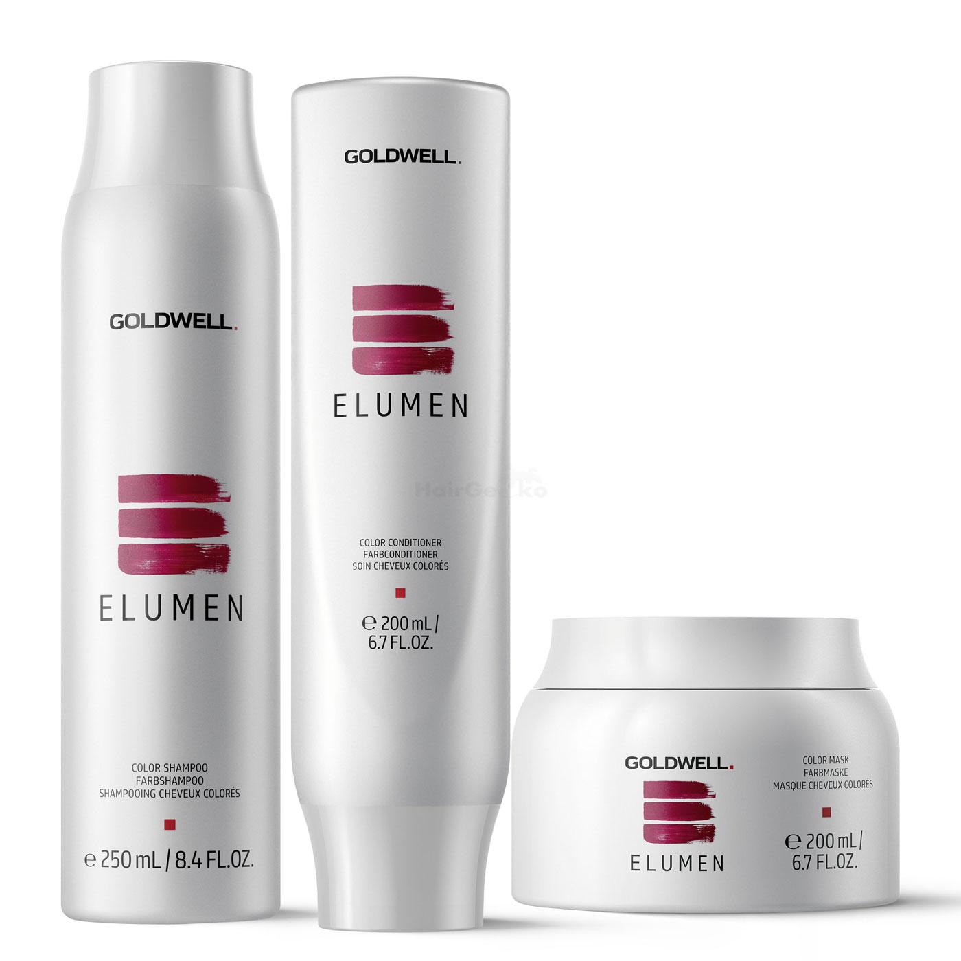Goldwell Elumen Care Set - Shampoo Farbshampoo 250ml + Conditioner Farbconditioner 200ml + Mask Farbmaske 200ml