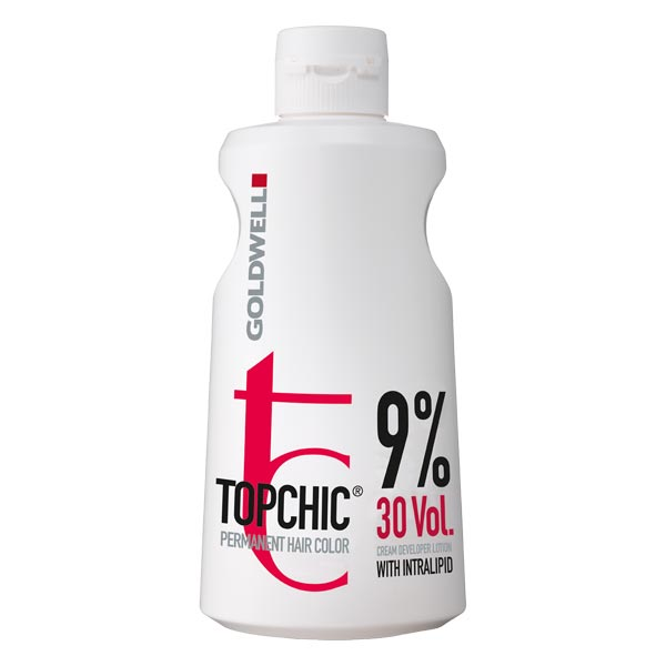 Goldwell Topchic Permanent Hair Color Cream Developer Lotion With Intralipid 1L  Entwickler- 9% 30 Vol.