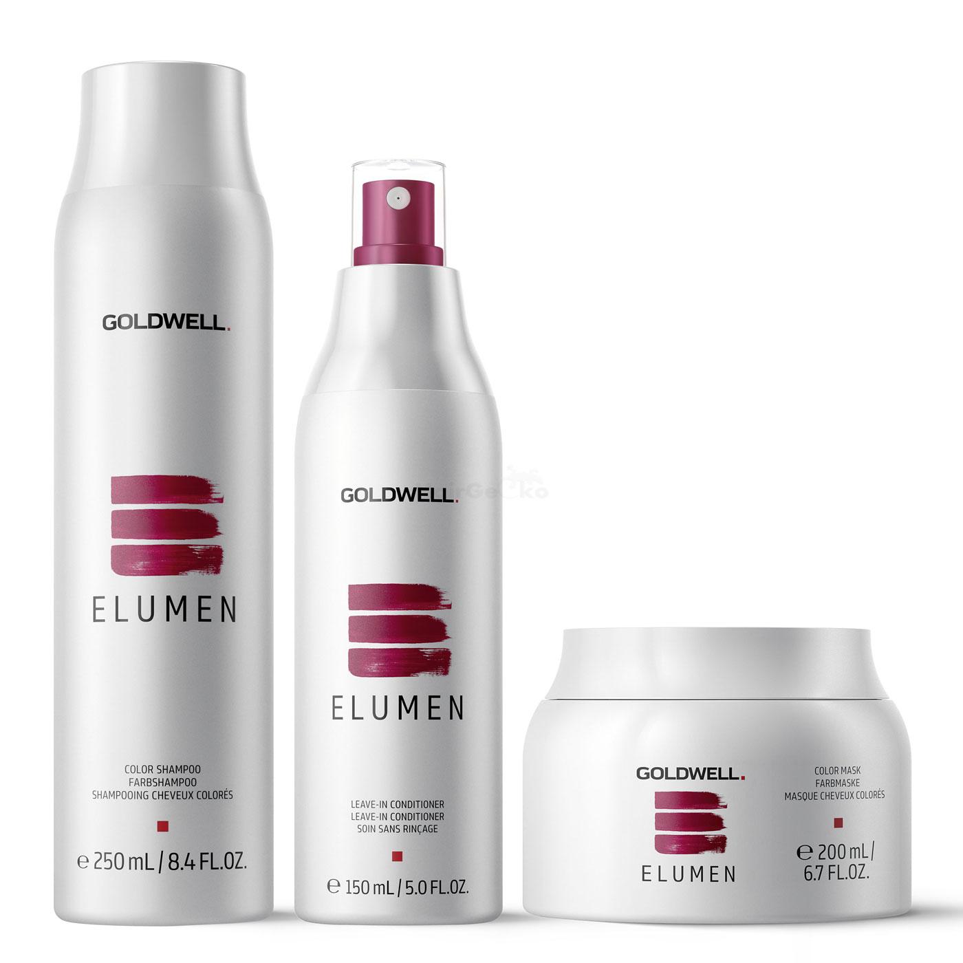 Goldwell Elumen Care Set - Shampoo Farbshampoo 250ml + Leave-In Conditioner 150ml + Mask Farbmaske 200ml