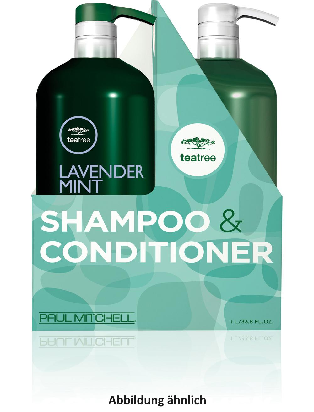 Paul Mitchell Duo Tea Tree Lavender Mint Set Shampoo und Conditioner je 1L + 2 Pumpen