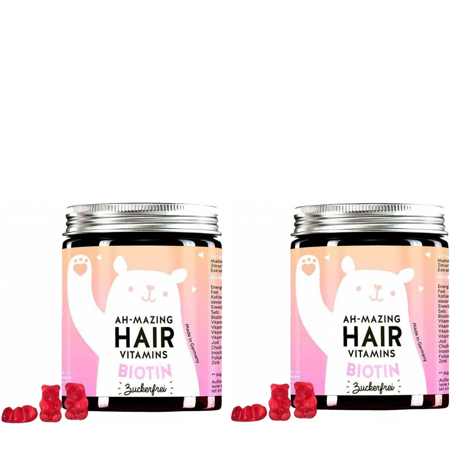 Bears with Benefits Ah-mazing Hair Vitamin mit Biotin zuckerfrei Duo (120 Stück)