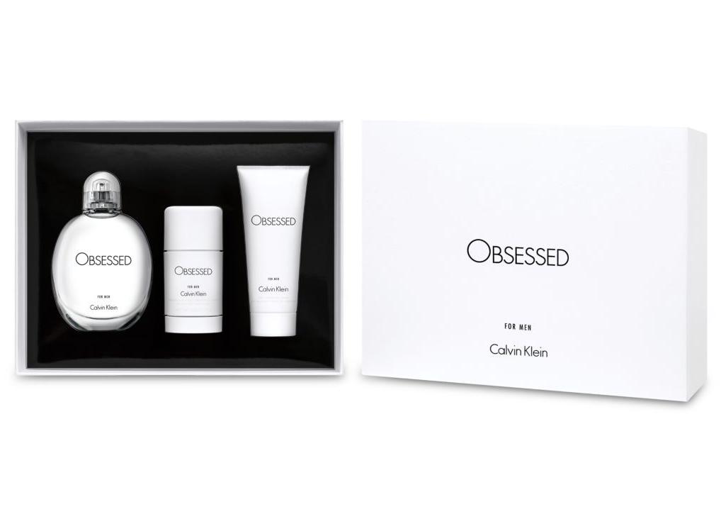 Calvin Klein CK Obsessed for Men 125ml EDT Eau de Toilette + Duschgel 100ml + Deostick 75ml
