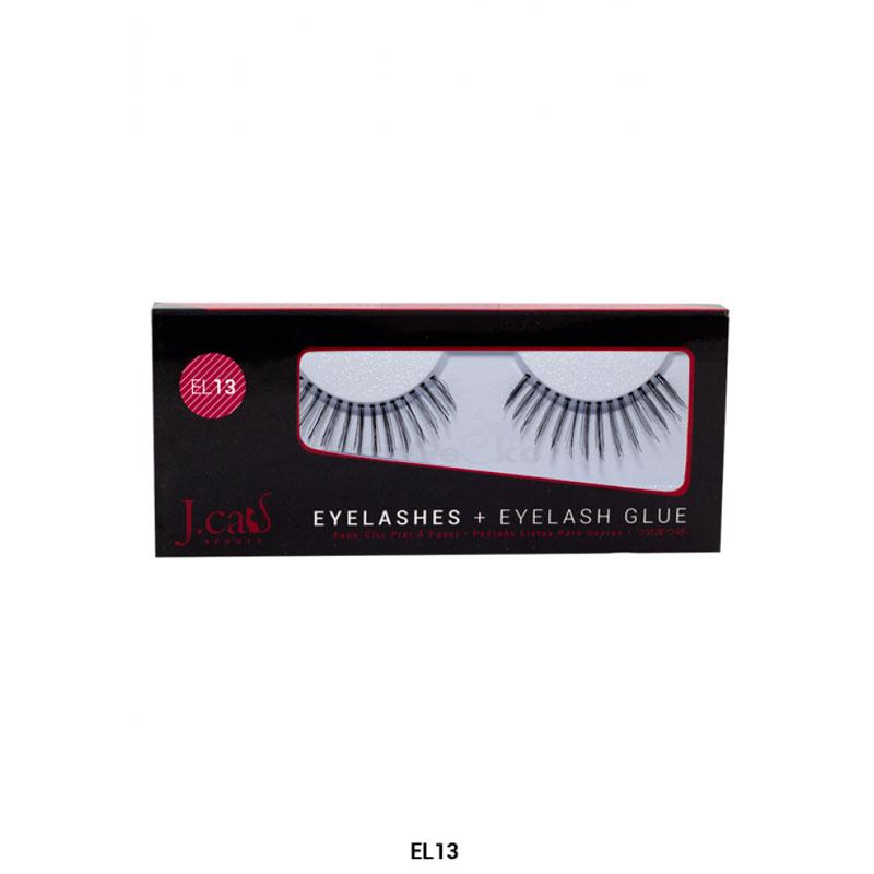 J.Cat Eyelashes Wimpern aus 100% Echthaar + Kleber - EL13