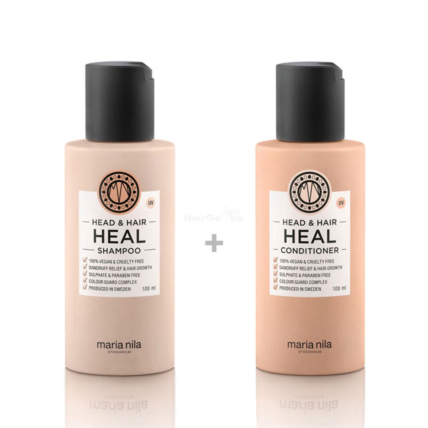 Maria Nila Head & Hair Heal Set - Shampoo 100 ml + Conditioner 100 ml