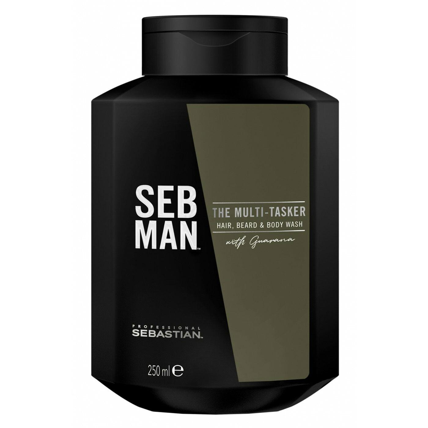 Sebastian SEB MAN The Multi-Tasker 3in1 Shampoo für Haar, Bart und Körper 250ml