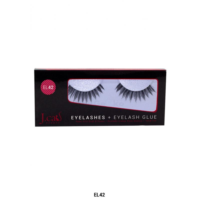 J.Cat Eyelashes Wimpern aus 100% Echthaar + Kleber - EL42