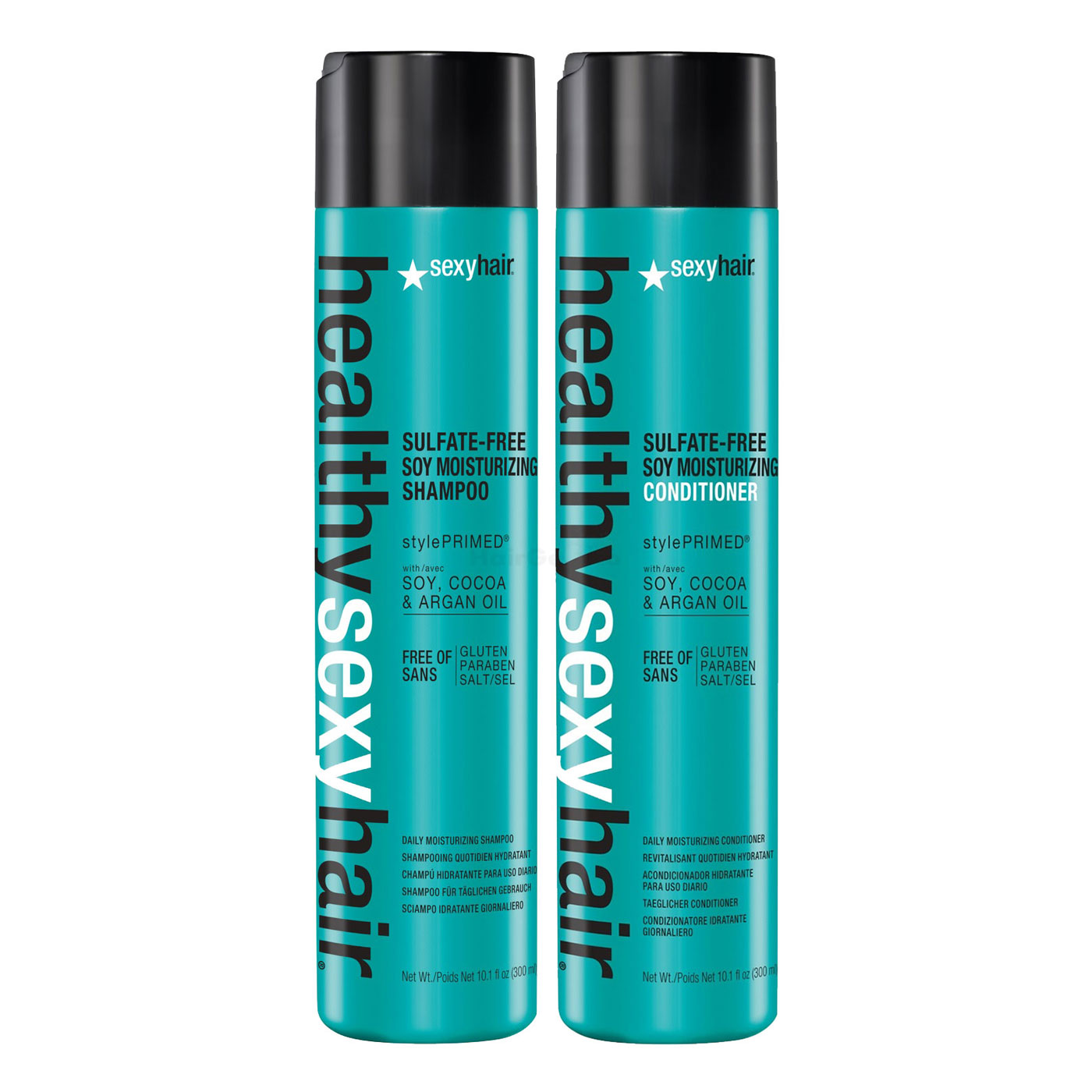 Sexy Hair Healthy Soy Moisturizing Set - Shampoo 300ml + Conditioner 300ml