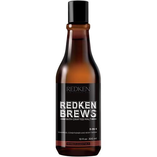 Redken Brews 3-in-1 Shampoo & Conditioner & Bodywash 300 ml
