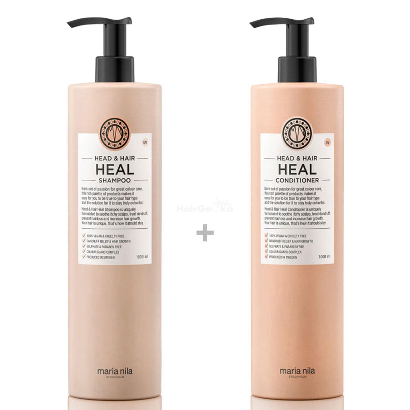 Maria Nila Head & Hair Heal XXL Set - Shampoo 1000 ml + Conditioner 1000 ml