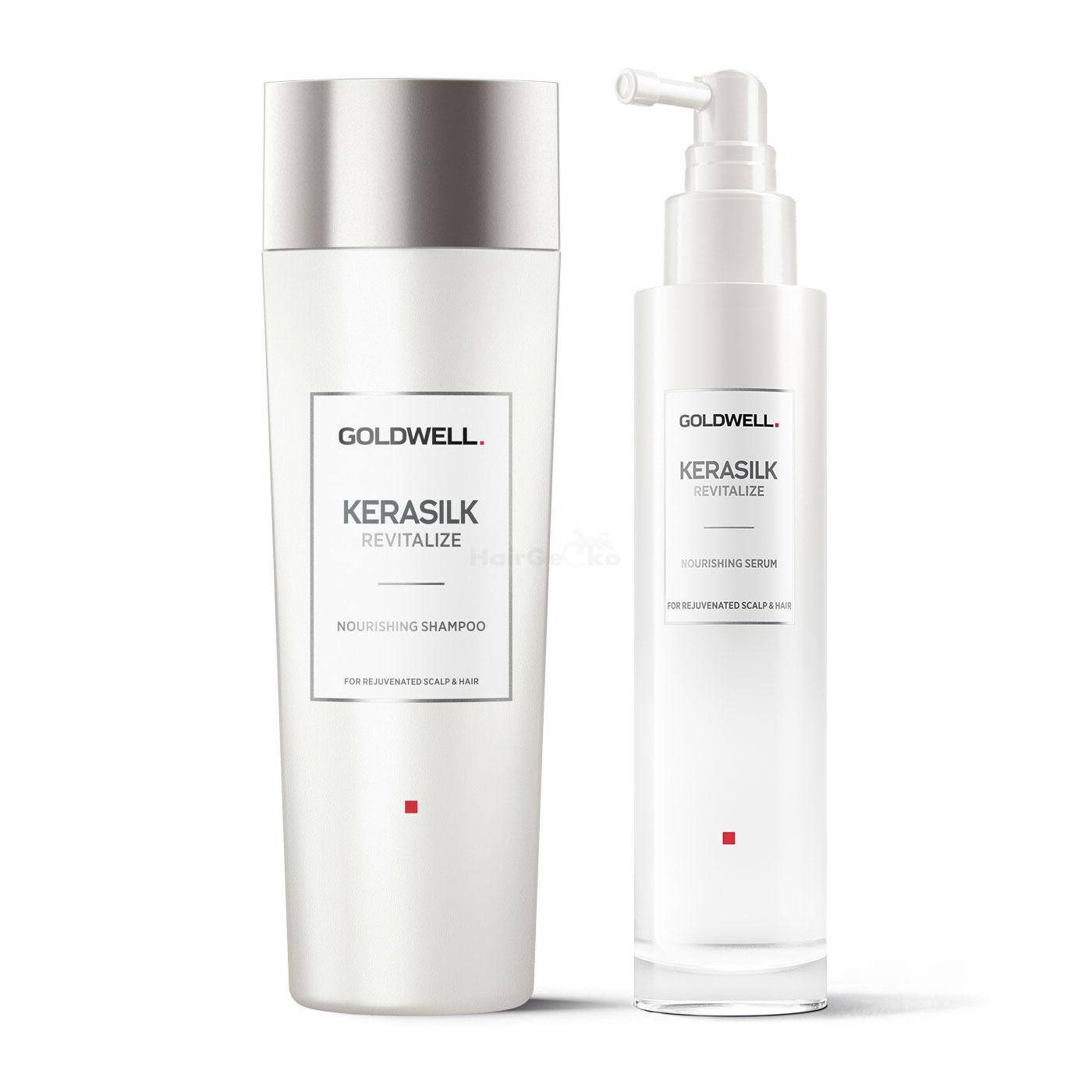 Goldwell Kerasilk Revitalize Nourishing nährendes Set - Shampoo 250ml + Serum 100ml