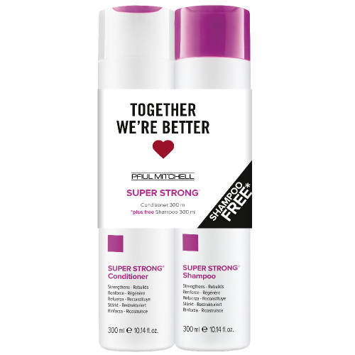 Paul Mitchell Super Strong Conditioner 300ml + Shampoo 300ml